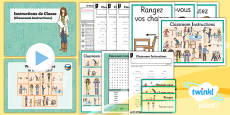 French: All About Me: Classroom Instructions Year 3 Lesson Pack 1