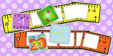 Large Writing Target Cards Rulers