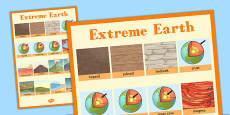 Extreme Earth Word Grid