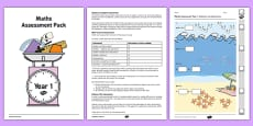 Year 1 Maths Assessment Pack Term 1