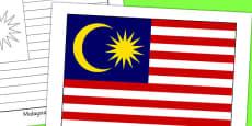 Malaysia Flag Display Poster