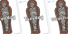 Days of the Week on Mummies (Coffins)