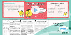 PlanIt Y2 Term 1B Assess and Review Spelling Pack