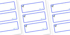 Starling Themed Editable Drawer-Peg-Name Labels (Blank)