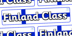 Finland Themed Classroom Display Banner