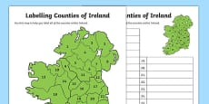 Labelling Counties of Ireland Activity