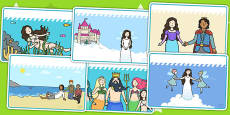 The Little Mermaid Story Sequencing Cards