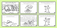 Jonah and the Big Fish Story Sequencing