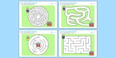 The Three Little Pigs Differentiated Maze Activity Sheet Pack