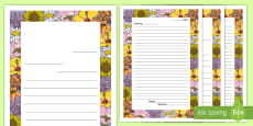 Letter to Future Teacher Writing Template with Flower Border