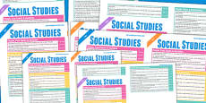 Scottish Curriculum For Excellence Social Studies Overview Posters Early To Second
