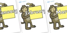 Months of the Year on Monkeys