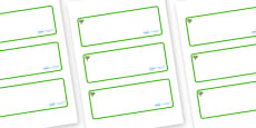 Pear Tree Themed Editable Drawer-Peg-Name Labels (Blank)
