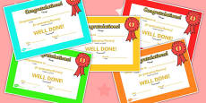End of Term Certificates Graduated Arabic Translation
