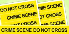 Crime Scene Role Play Tape