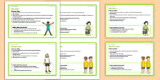 Foundation PE (Reception) - Types of Jumps Teacher Support Cards