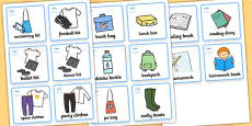 SEN Communication Cards Things To Remember (Boy)