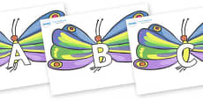 A-Z Alphabet on Butterflies to Support Teaching on The Very Hungry Caterpillar