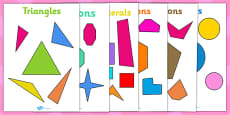 Regular and Irregular 2D Shapes Display Posters