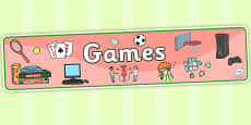 Games Display Banner
