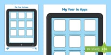 My Year in Apps Activity Sheet