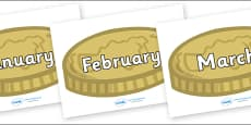 Months of the Year on Coins