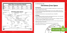 Amazing Fact a Day KS2 Countdown to Christmas Day 16 Christmas from Space Activity Sheet