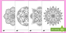 * NEW * Mandala Themed Mindfulness Coloring Activity