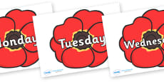 Days of the Week on Poppies