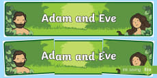 Adam and Eve Display Banner