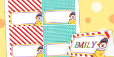 Circus Themed Birthday Party Place Names