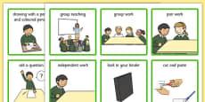 Classroom Visual Aid Cards