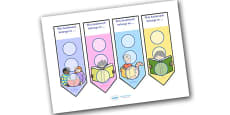 Literacy Themed Sticker Reward Bookmarks 30mm