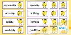 PlanIt Spelling Additional Resources Year 5 Term 2A Spelling Word Cards