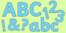 Display Lettering & Symbols (Pure Blue)