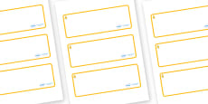 Aspen Themed Editable Drawer-Peg-Name Labels (Blank)