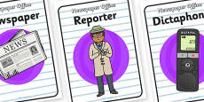 Newspaper Office Role Play Posters