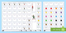 Winter Pictures With Matching Sentence Building Cards English/Italian