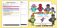 EYFS Superheroes in a Tangle Finger Gym Plan and Prompt Card Pack