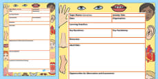 Ourselves Themed Adult Led Focus Planning Template