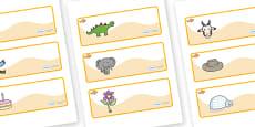 Goldfish Themed Editable Drawer-Peg-Name Labels