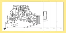Homes Through the Ages Colouring Sheets