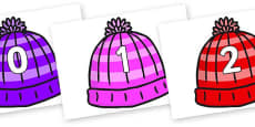 Numbers 0-100 on Woolly Hats