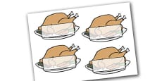 Editable Self Registration Christmas Turkeys