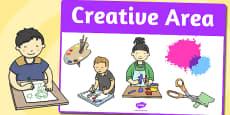 Creative Area Sign