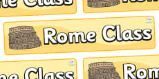 Rome Themed Classroom Display Banner