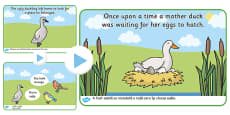 The Ugly Duckling Story PowerPoint Romanian Translation