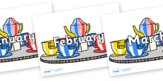 Months of the Year on Fairground Teacups