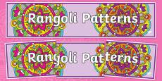 Rangoli Patterns Display Banner