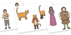 Puss in Boots Story Cut Outs